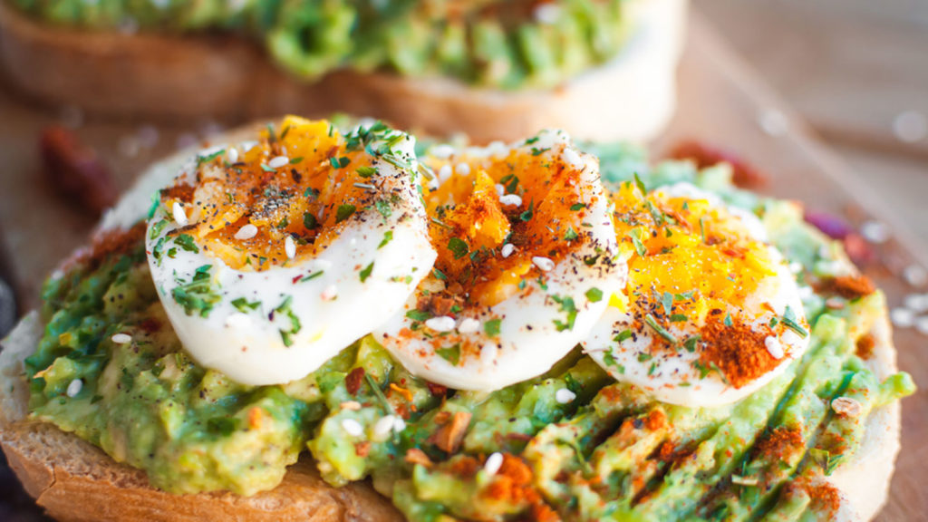 soft  boiled eggs and avocado on toast